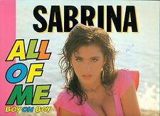 """SABRINA - ALL OF ME Boy Oh Boy 12"""" MAXI SINGLE (L8512)"""