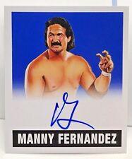 Manny Fernandez 2017 Leaf Originals Wrestling BLUE on-card Autograph Auto #7/25