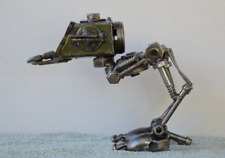 """Hand Made Star Wars ATST 12"""" Inches Recycled Scrap Metal Sculpture"""