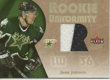2005-06 FLEER ULTRA - ROOKIE UNIFORMITY - JUSSI JOKINEN 2 COLOR ROOKIE JERSEY