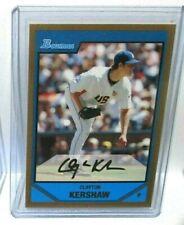 Clayton Kershaw 2007 Bowman Gold Parallel Rookie Card #BDPP77