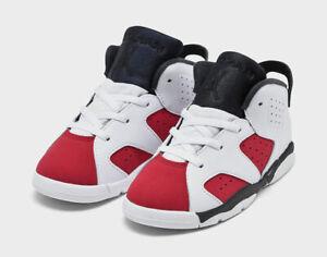 Air Jordan 6 Retro Carmine (TD) 384667-106 Toddler 4C ***AUTHENTIC***