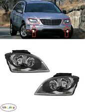 FOR CHRYSLER PACIFICA 2003 - 2006 NEW FRONT MANUAL HEADLAMPS PAIR L + R LHD