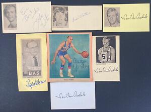 NBA Legends Signed Index Lot 7 George Yardley Tom Van Arsdale (3) Basketball HOF