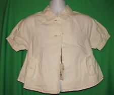 NORI Casual Top Shirt Women's Short Sleeve Size M White Color 2 Buttons
