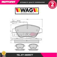 1248-G Pasticche freno anteriore Fiat Grande Punto (199) 05> (WAG)