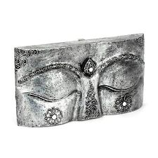 Buddha Augen - Holz Relief - Handarbeit aus Bali - Gr. S 33 cm - Budda Wandbild