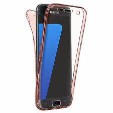 A Prueba De Choques 360°Silicona Protector Claro Funda para Samsung Galaxy