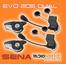 Sena 20S EVO Dual Motorcycle Bluetooth Communication 20S-EVO-01D +FREE POWERBANK
