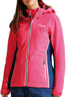 Dare2B Invoke II Womens Waterproof Jacket Pink Breathable Stretch Fabric XS UK 8