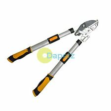 Telescopic Ratchet Garden Tree Branch Anvil Lopper Pruner Bypass Cut Loppers
