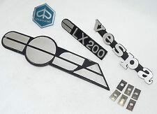 Vespa Cosa 1 - Emblem Schriftzug Set silber matt - 4 Stück - original Piaggio