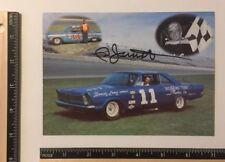 Rare Ned Jarrett #11 Bondy Long 65 Ford 62 Chevy Signed 5x7 vintage Promo card
