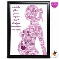 Personalised Pregnant Present Mothers Day Gifts Mum Mummy Nanny Nan Birthday