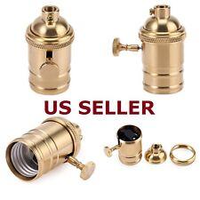 E26/E27 Retro Vintage Antique Edison Brass Lamp Light Bulb Holder Socket Decor