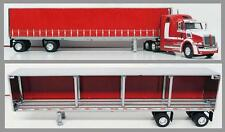1/64 DCP RED WESTERN STAR 5700EX W/ TAUTLINER TRAILER
