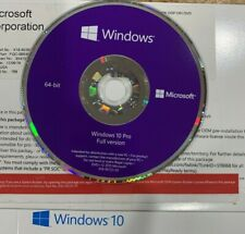 Original OEM Windows 10 PRO 64 Bits Media Full Install  DVD Disc Only No License