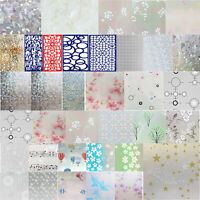 Static Electric Glass Window Door Film Sticker Privacy Adhesive Bathroon Decor