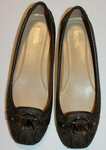 New MICHAEL KORS Fulton Women's Leather Ballet Flats Loafers 9.5