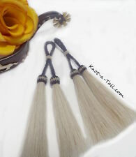 Show-Stoppers  Horsehair tassels tack or jewelry White horsehair tassel Pair (2)