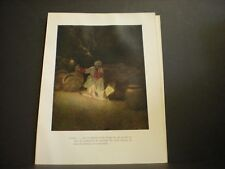Maxfield Parrish original book plate from 1925 The Arabian Nights vintage ed. NR