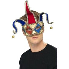 Mens Women Venetian Musical Jester Mask Fancy Dress Costume Masquerade Halloween