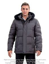 * Goose Down Coat Jacket Parka w/ Raccoon Fur sz M / EU 48 $795 Пуховик Mex Енот