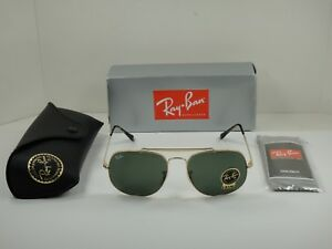 RAY-BAN GENERAL SUNGLASSES RB3561 001 GOLD FRAME/GREEN CLASSIC LENS 57MM