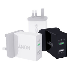 GENUINE ANON MAINS FAST CHARGER PLUG USB UK FOR OPPO RX17 PRO FIND X LAMBORGHINI