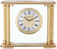 BRAND NEW HOWARD MILLER BRASS & GLASS ATHENS DESK CLOCK 613-627 POSCH