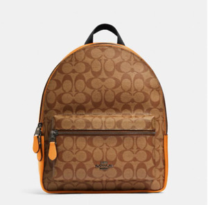 Coach Authentic Medium Charlie Backpack In Signature Canvas
