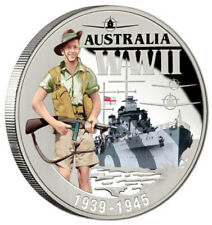 NIUE 1Dollar 2015 The Aussie Spirit WWII Silver-Plated Proof in Superb Mint pack