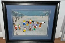 Peanuts Cel A Charlie Brown Christmas It's The Great Skate Signed Bill Melendez