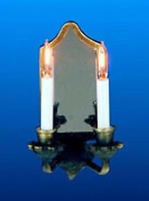 Dolls House Double Candle Wall Light 1 12 Scale