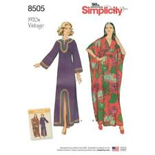 SIMPLICITY SEWING PATTERN 1970's VINTAGE CAFTAN SIZE S TO L 10 - 20 8505