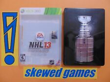 NHL 13 Stanley Cup Collectors Edition - cib - Steel Book - XBox 360 Microsoft