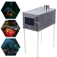 Titanium Tent Wood Stove keeping Warm Cooking BBQ 2M Chimney For Outdoor Camping