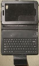 nice working used Soft Touch Bluetooth keyboard with  tablet case cover