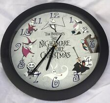 Vintage Tim Burton's Nightmare Before Christmas Clock Hard To Find Works Great