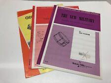 Lot of 3 Beginning Drum Solos w/ Piano Accompaniment Snare Drum Timpani