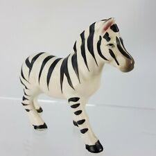 "Vintage Zebra 3"" Figurine Standing Porcelain Japan Safari Animal Pink Ears"