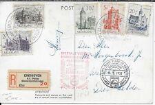 Netherlands Holland Nederland B224-8 1951 Fdc Semi-Postal Castles all 5 values