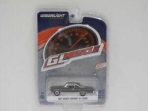 1:64 1967 Dodge Coronet R/T Hemi (Green) Greenlight 13300-A