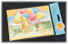 Vintage Classic Pooh Birthday Party Invitations Printed England 6 DieCut Cards