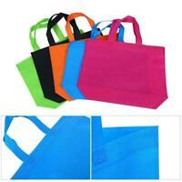 10pcs Large Shopping bags Non-woven Reusable fabrics Washable 6Colors Tote T7C7
