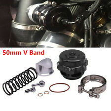 50mm V Band Air Flow Blow Off Valve BOV Q Typer w/ Weld On Aluminum Flange Kit