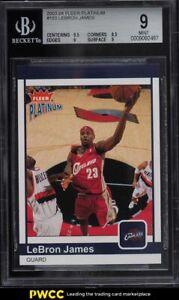 2003 Fleer Platinum LeBron James ROOKIE RC /750 #183 BGS 9 MINT