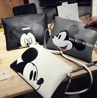 New Women girl Fashion Mickey Handbag Shoulder Bag Purse Tote Messenger Hobo Bag