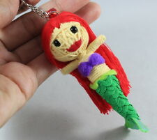 Arial Little Mermaid Handcraft Voodoo Doll Keychain Keyring String Toy Handmade