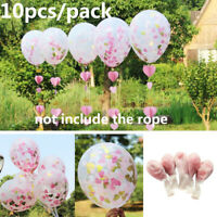 """12"""" Heart Confetti Latex Balloon DIY Wedding Party Supplies Balloon Decor 10Pcs"""